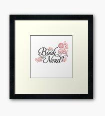 Book Nerd Flower Graphic Framed Print