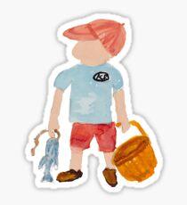 Toddies Summer Nantucket Fishing Holiday Baby Boy Toddler Sticker