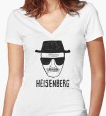 HEISENBERG - BREAKING BAD - WALTER WHITE  Women's Fitted V-Neck T-Shirt
