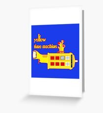 YELLOW TIME MACHINE PILLOW  Greeting Card