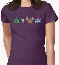 For the Horde! Cartoon Pattern Womens Fitted T-Shirt