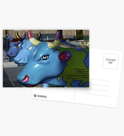 Three Cows on Parade, Ebrington Sq, Derry Greeting Card