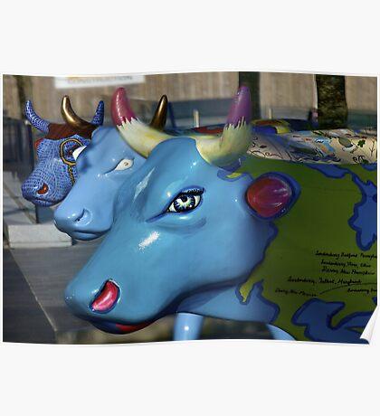 Three Cows on Parade, Ebrington Sq, Derry Poster