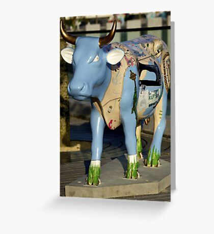 Cow Parade - Shirt Factory Horn, Derry Greeting Card