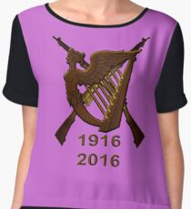 1916 Irish republic 2016  Women's Chiffon Top