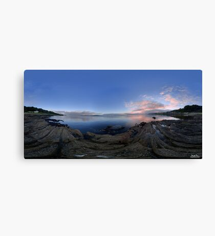 Dusk Shoreline near Moville, Donegal (Rectangular) Canvas Print