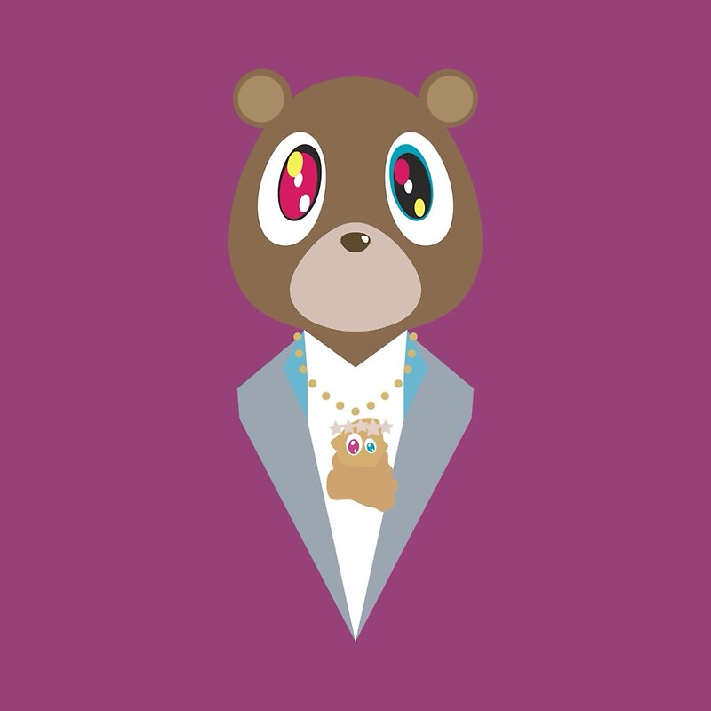 quotgraduation bear kanye westquot stickers by michael