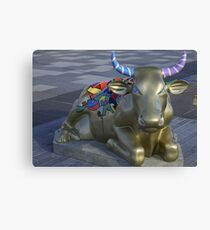 Let's Mooooooove Ahead Together, Ebrington, Derry Canvas Print