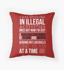 Stana Katic - Twitter Quote Throw Pillow