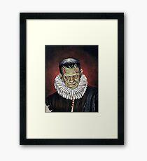 Renaissance Victorian Portrait - Frankenstein Framed Print