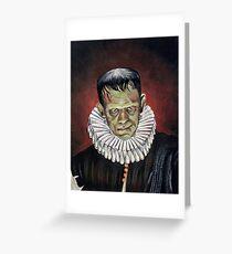 Renaissance Victorian Portrait - Frankenstein Greeting Card