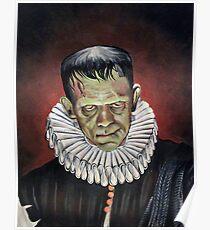 Renaissance Victorian Portrait - Frankenstein Poster