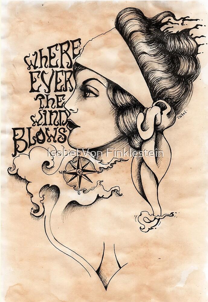 Gypsy- vintage tattoo style by Isobel Von Finklestein