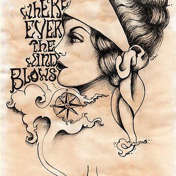 Gypsy- vintage tattoo style by MissFinklestein