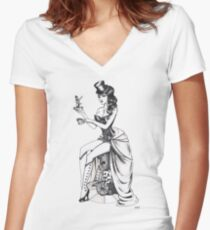 Burlesque circus Women's Fitted V-Neck T-Shirt