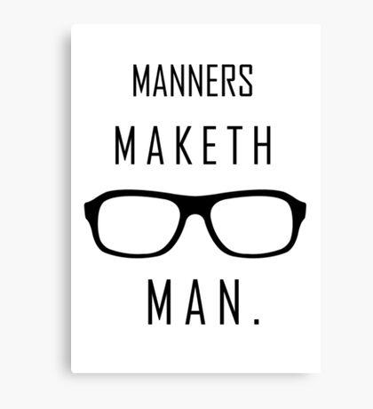 "Kingsman: ""Manners maketh man."" Canvas Print"