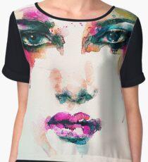 Watercolor Face Chiffon Top