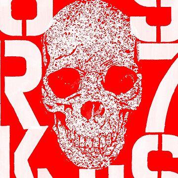 Skulls Red by tianlubis