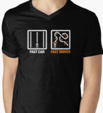 Fast Car - Fast Driver (3) Mens V-Neck T-Shirt