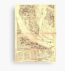 Old map of charleston wall art redbubble vintage map of charleston south carolina 1780 canvas print gumiabroncs Gallery