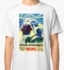 """""""REIMS"""" Grand Prix Vintage Auto Race Print Classic T-Shirt"""