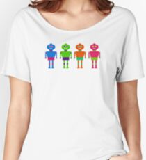 Colourful Robots Women's Relaxed Fit T-Shirt