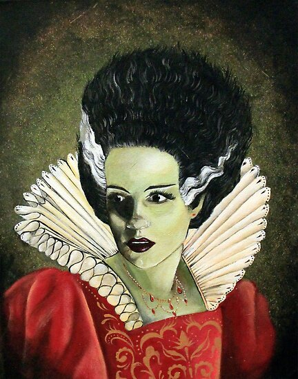 Renaissance Victorian Portrait - Bride of Frankenstein by DontPanicDecor