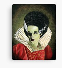 Renaissance Victorian Portrait - Bride of Frankenstein Canvas Print