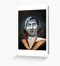 Renaissance Victorian Portrait - Dracula Greeting Card