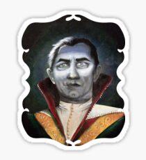 Renaissance Victorian Portrait - Dracula Sticker