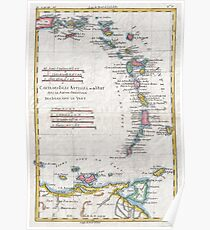 Vintage Map of The Antilles Islands (1780) Poster