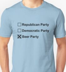 VOTE BEER PARTY 2016 Unisex T-Shirt