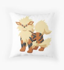 Arcanine Pokemon Simple No Borders Throw Pillow