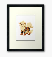 Arcanine Pokemon Simple No Borders Framed Print