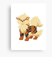 Arcanine Pokemon Simple No Borders Canvas Print