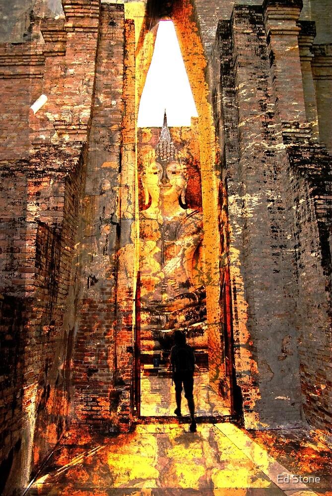 Buddha Sunrise Sri Chum Temple by Ed Stone