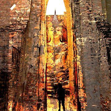 Buddha Sunrise Sri Chum Temple by dopeytree