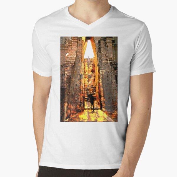 Buddha Sunrise Sri Chum Temple V-Neck T-Shirt