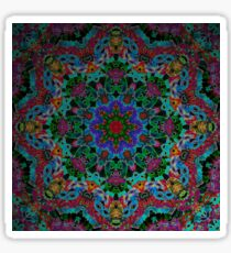 Fractal Mandala Square Circle Design Sticker