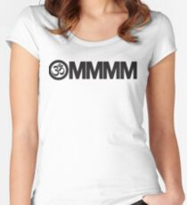 Yoga: Ommmm Women's Fitted Scoop T-Shirt
