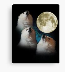 Gabe the Dog - Three Gabe Moon Canvas Print