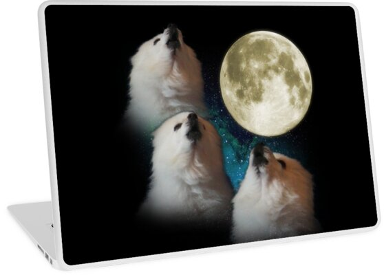 Quot Gabe The Dog Three Gabe Moon Quot Laptop Skins By