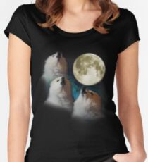 Gabe the Dog - Three Gabe Moon Women's Fitted Scoop T-Shirt