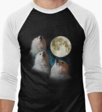 Gabe the Dog - Three Gabe Moon Men's Baseball ¾ T-Shirt