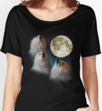 Gabe the Dog - Three Gabe Moon Women's Relaxed Fit T-Shirt