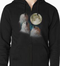 Gabe the Dog - Three Gabe Moon Zipped Hoodie