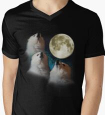 Gabe the Dog - Three Gabe Moon Men's V-Neck T-Shirt