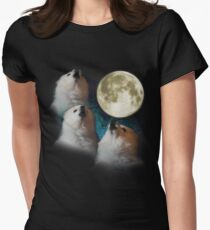 Gabe the Dog - Three Gabe Moon Women's Fitted T-Shirt