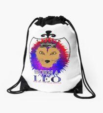 Born A Leo Zodiac Sign Lion  Drawstring Bag