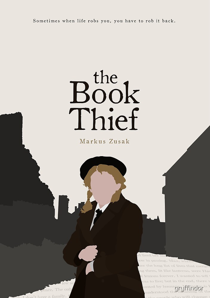 Book Thief Cover Art : Quot the book thief by gryffindor redbubble